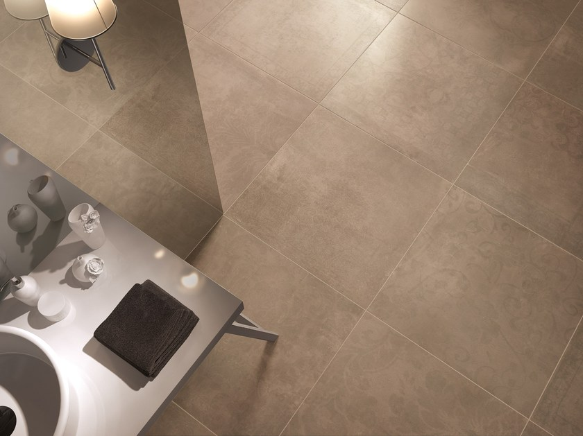 Porcelain stoneware wall/floor tiles with concrete effect PORTLAND 2.0 LASSEN by CERAMICA FONDOVALLE