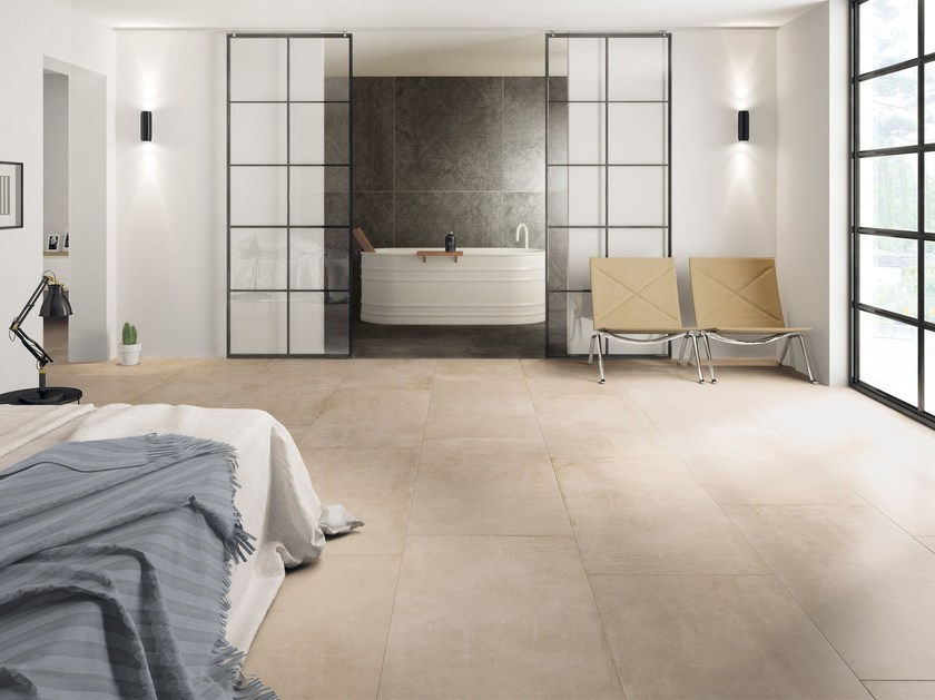 Porcelain stoneware wall/floor tiles with concrete effect PORTLAND ...