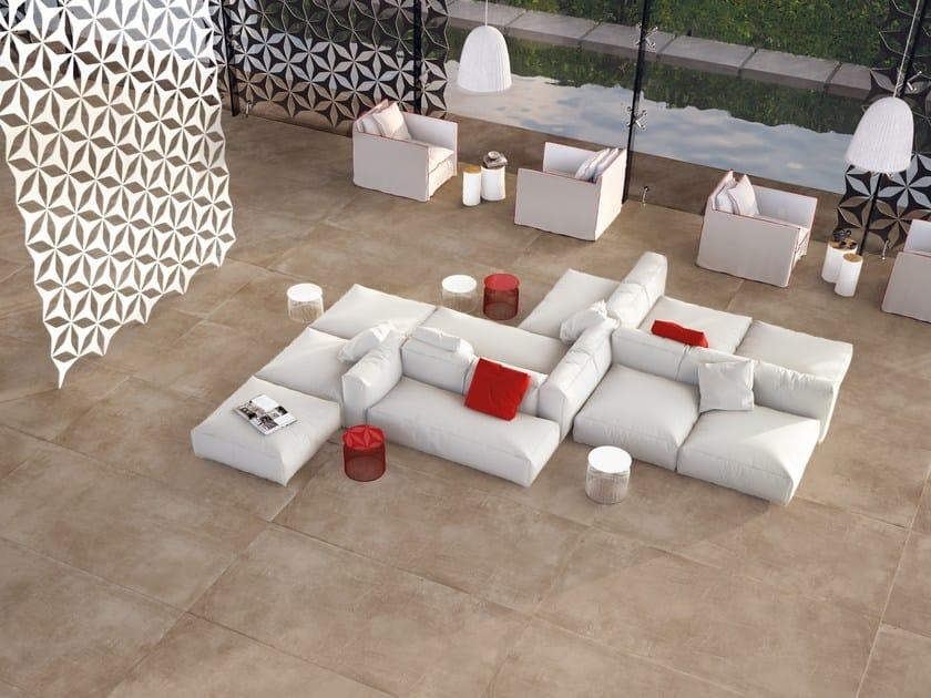 Porcelain stoneware wall/floor tiles with concrete effect PORTLAND 3.0 LASSEN by CERAMICA FONDOVALLE