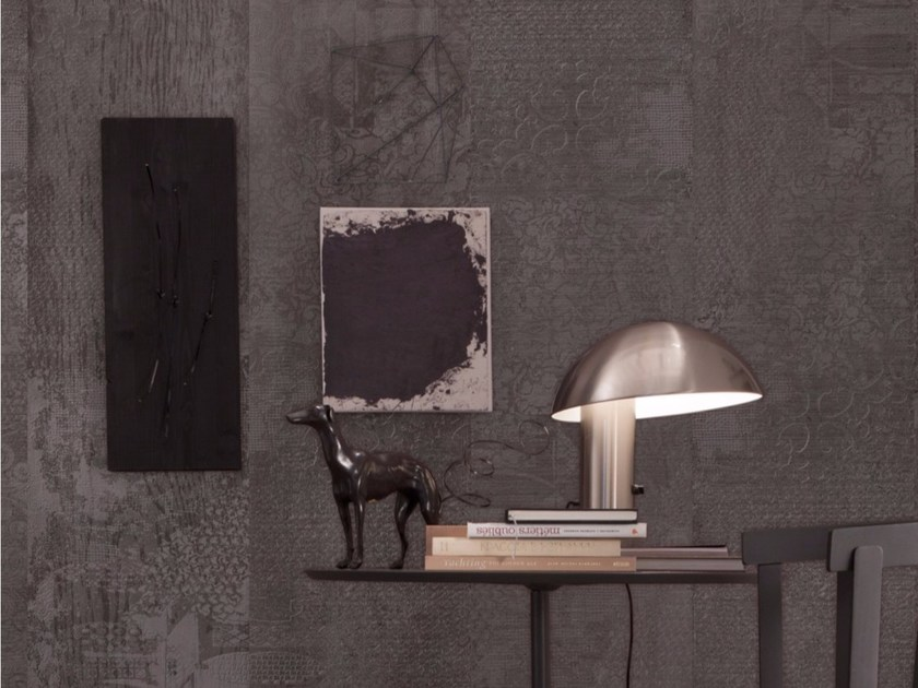 Panoramic wallpaper with concrete effect PORTLAND by Inkiostro Bianco