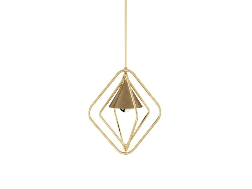 Brass pendant lamp PORTMAN by Porustudio