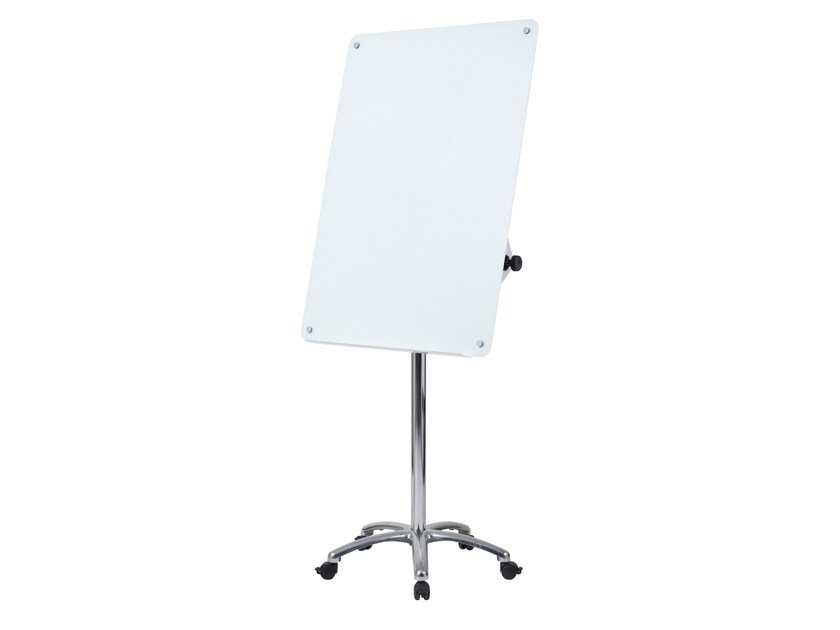 Magnetic glass mobile easel with casters PORTO | Office whiteboard with casters by ARCHYI. by Bi-silque