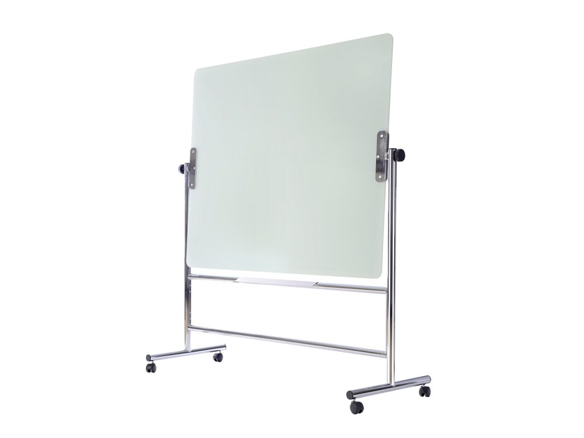 Swivel tempered glass office whiteboard with casters PORTO | Office whiteboard with casters by ARCHYI. by Bi-silque