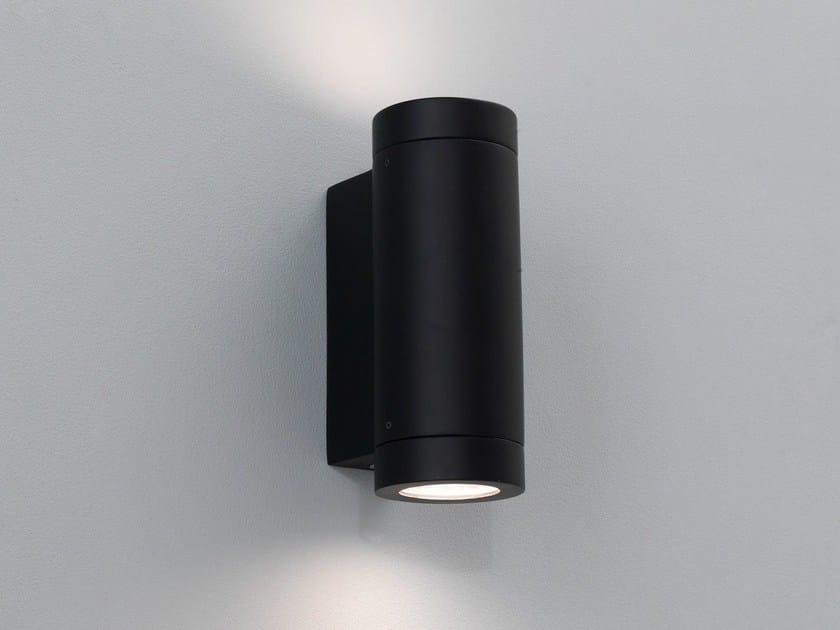 Direct-indirect light aluminium Outdoor wall Lamp PORTO PLUS TWIN by Astro Lighting