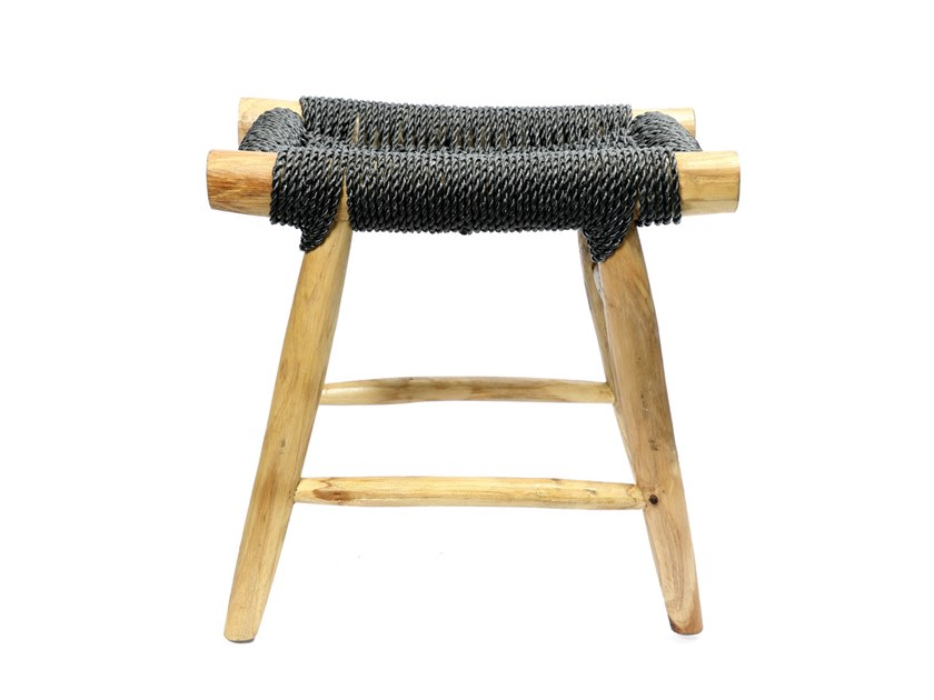 Seagrass stool with footrest PORTO by Bazar Bizar
