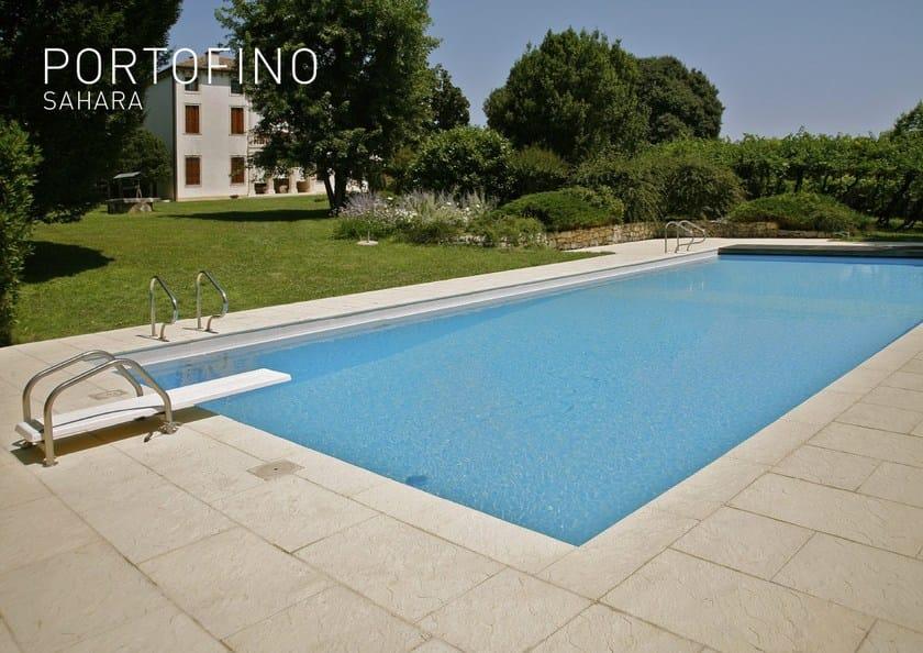 Pavimento Esterno Pietra : Pavimento per esterni bordo per piscina in pietra ricostruita