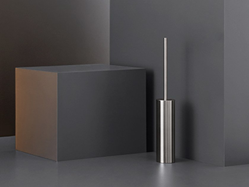 Stainless steel toilet brush POS 01 by Ceadesign