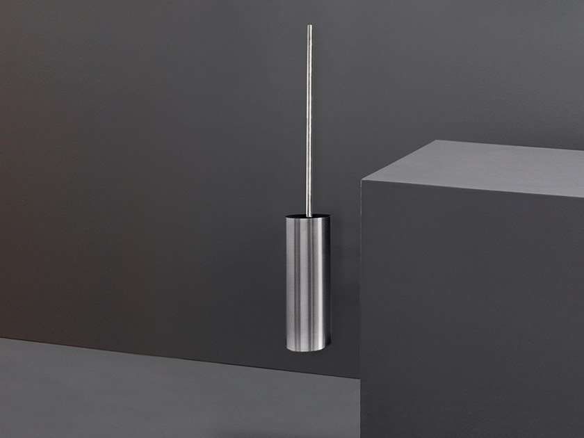 Wall-mounted stainless steel toilet brush POS 03 by Ceadesign