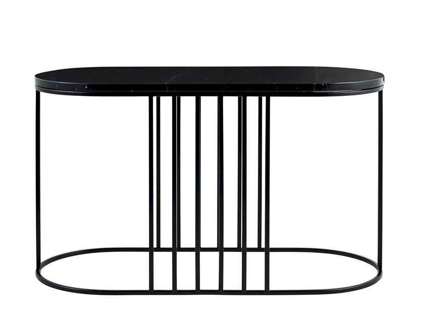 Oval marble side table POSEA | Side table by Bolia