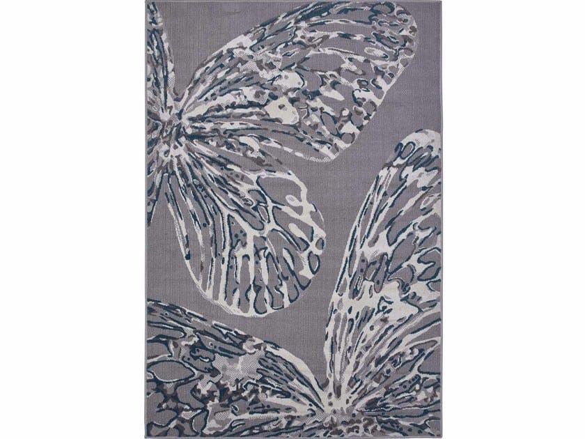 Rectangular polypropylene outdoor rugs DAFNE FARFALLE by Italy Dream Design
