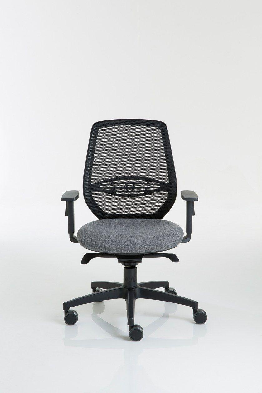 POST 30 | Sedia ufficio con braccioli Collezione Post By Luxy