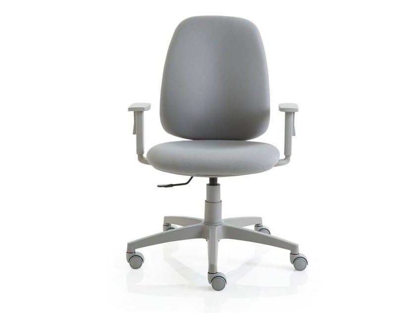 Luxy Poltrone Ufficio.Sedia Ufficio Operativa A 5 Razze Con Braccioli Post 10