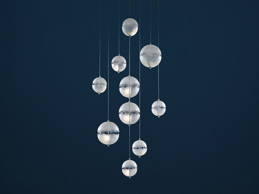 LED pendant lamp POSTKRISI CHANDELIER by Catellani & Smith