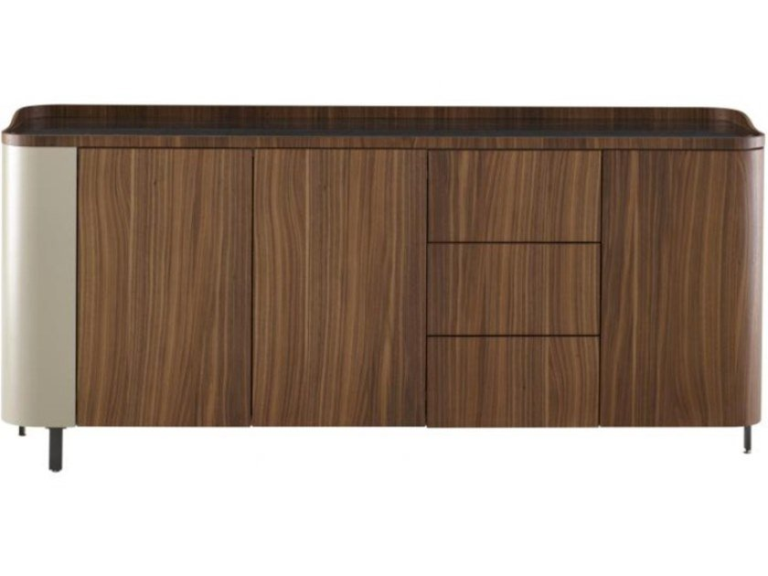 Multi-layer wood sideboard with doors with drawers POSTMODERNE | Sideboard by Ligne Roset