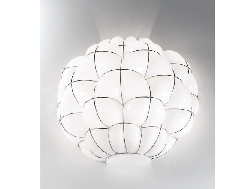 Murano glass wall light POUFF RA 383 by Siru