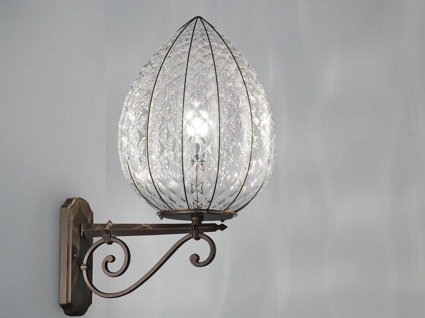 Murano glass wall lamp POVEGLIA EB 423 by Siru