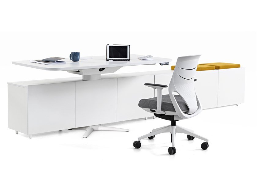 Individual melamine office workstation POWER | Individual office workstation by ACTIU