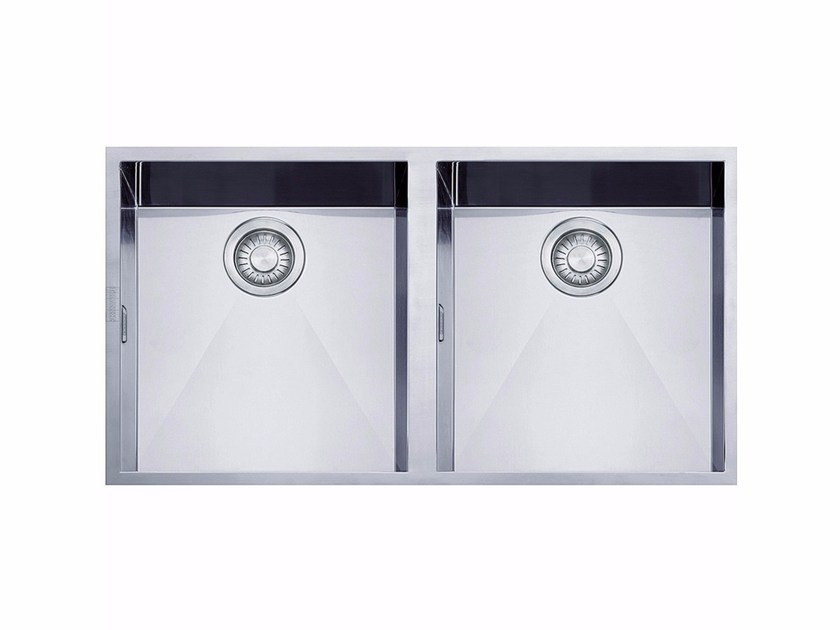 Lavello a 2 vasche in acciaio inox PPX 120 by FRANKE