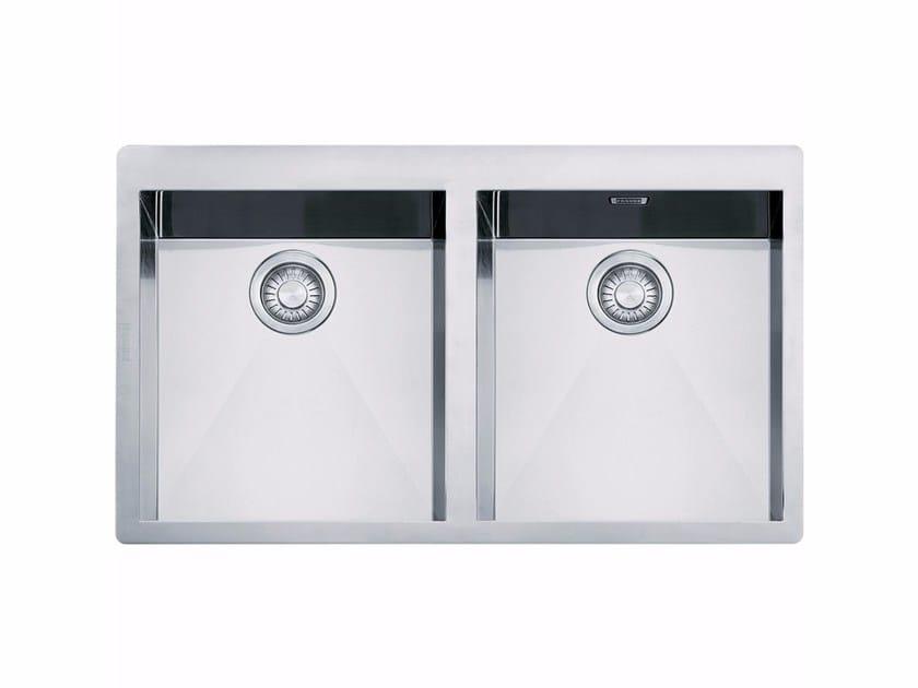 Lavello a 2 vasche da incasso in acciaio inox PPX 220 TL by FRANKE