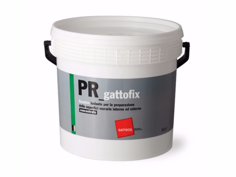 Base coat and impregnating compound for paint and varnish PR_gattofix by Gattocel Italia