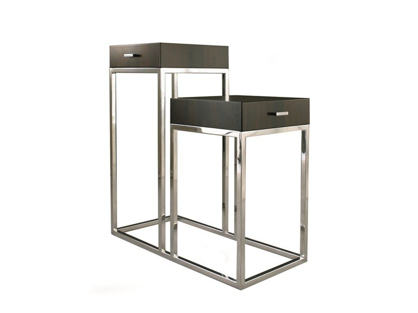Steel and wood side table PRADERE by Laval