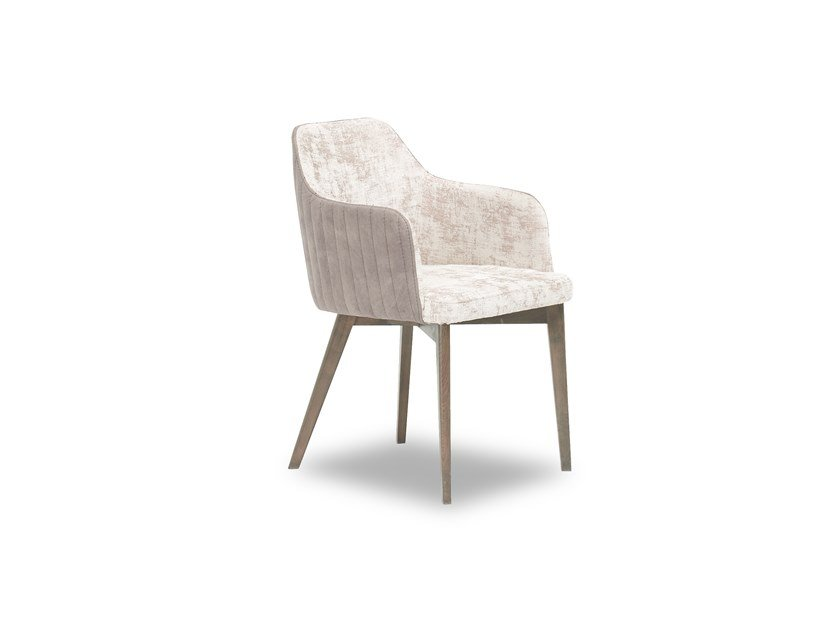 Fabric chair with armrests PRAGA | Chair by Enza Home