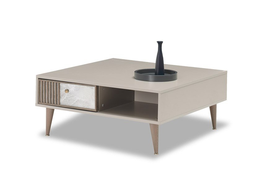 Low coffee table with storage space PRAGA | Coffee table by Enza Home