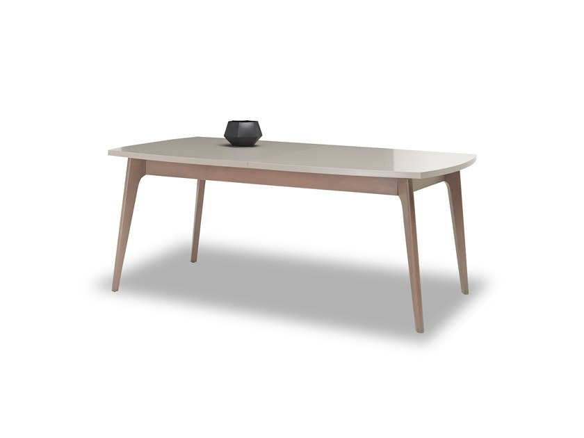 Extending rectangular wooden table PRAGA   Extending table by Enza Home