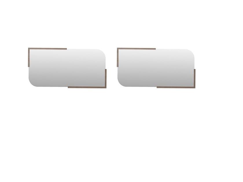 Rectangular framed wall-mounted mirror PRAGA   Mirror by Enza Home