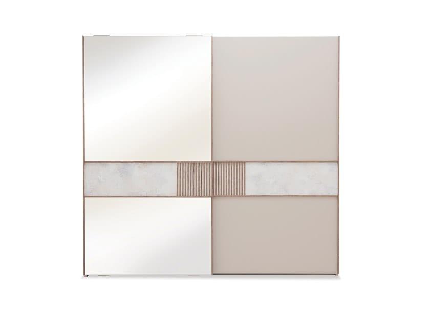 Mirrored wardrobe with sliding doors PRAGA | Mirrored wardrobe by Enza Home