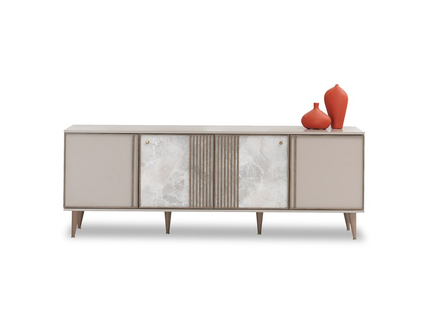Lacquered wooden sideboard with doors PRAGA | Sideboard by Enza Home