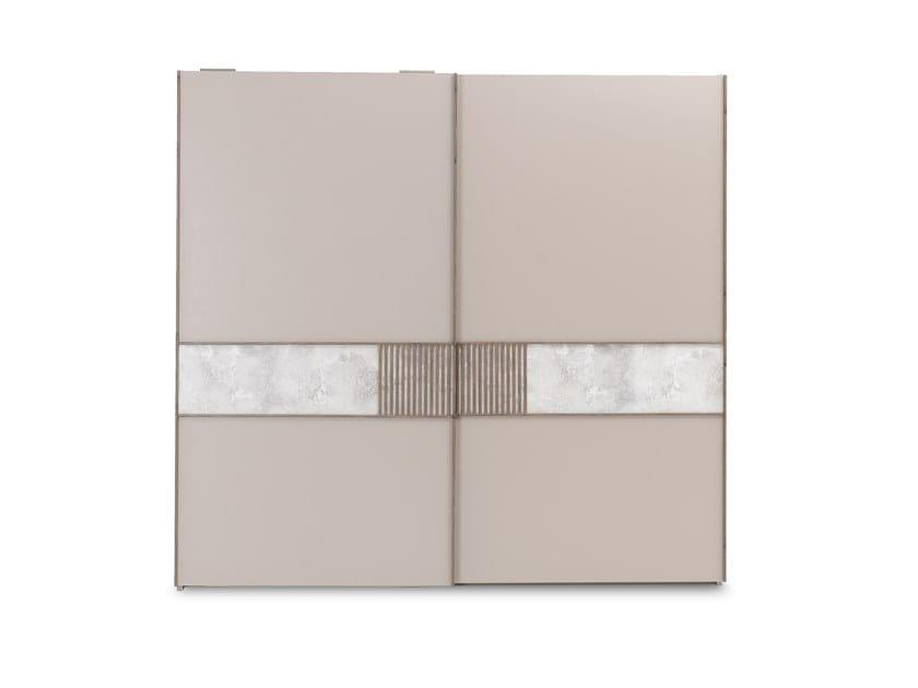 Wardrobe with sliding doors with drawers PRAGA | Wardrobe with sliding doors by Enza Home