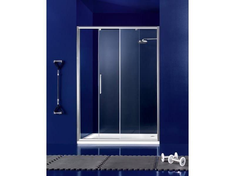 Box doccia a nicchia in vetro con porta scorrevole PRAIA - 2 - INDA®