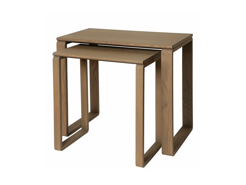 Lacquered rectangular side table PRAIA RASA | Side table by Branco sobre Branco