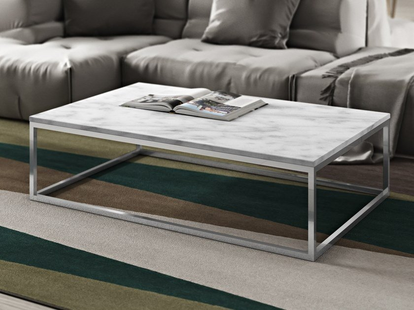 Rectangular marble coffee table PRAIRIE | Rectangular coffee table by TemaHome