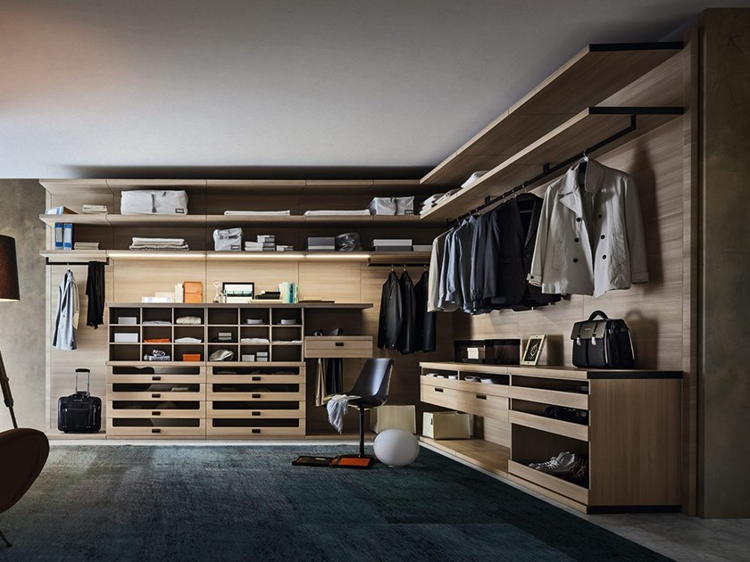 Sectional walk-in wardrobe PRATICO by ZANETTE