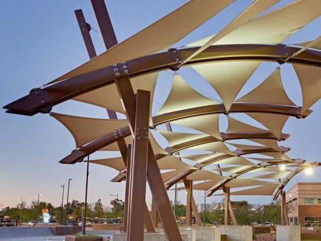 Technical solar protection fabric PRECONTRAINT® 502 SATIN by SERGE FERRARI