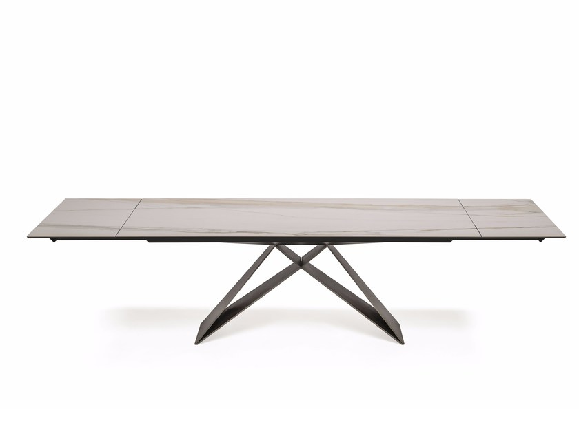 Extending rectangular ceramic table PREMIER KERAMIK DRIVE by Cattelan Italia