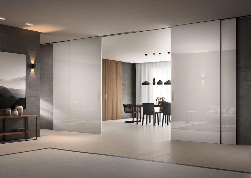 Glass sliding door PREMIUM by FERREROLEGNO