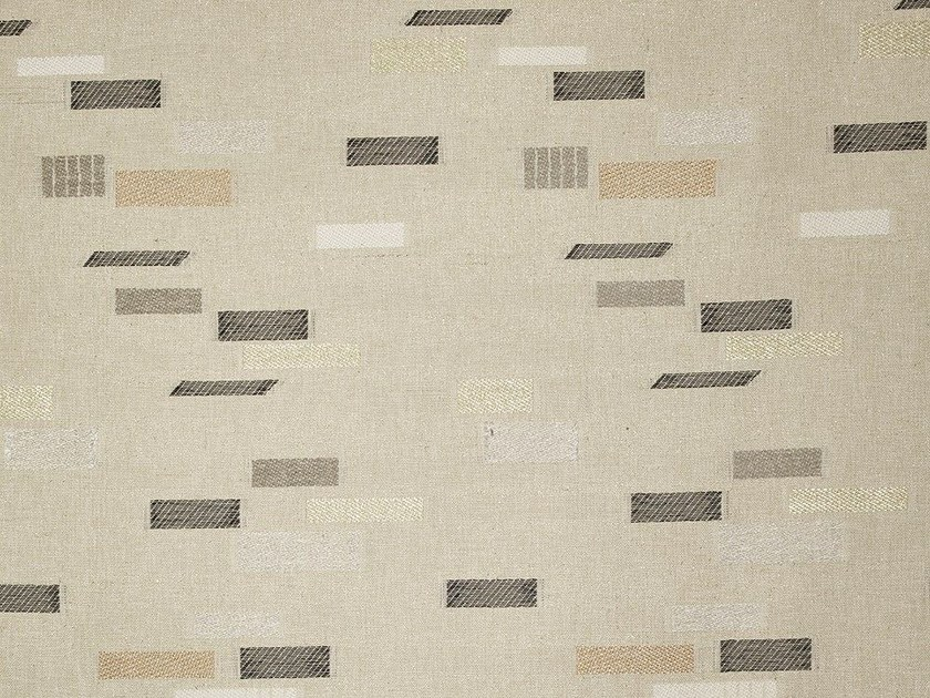 Fabric with graphic pattern PRESENT PERFECT by Dedar