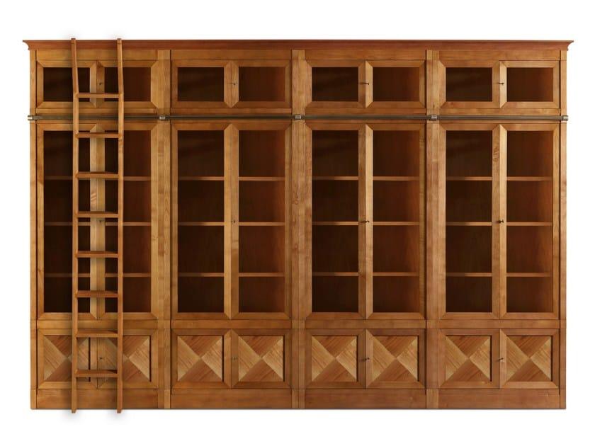 Modular cherry wood bookcase PRESIDENT by Morelato