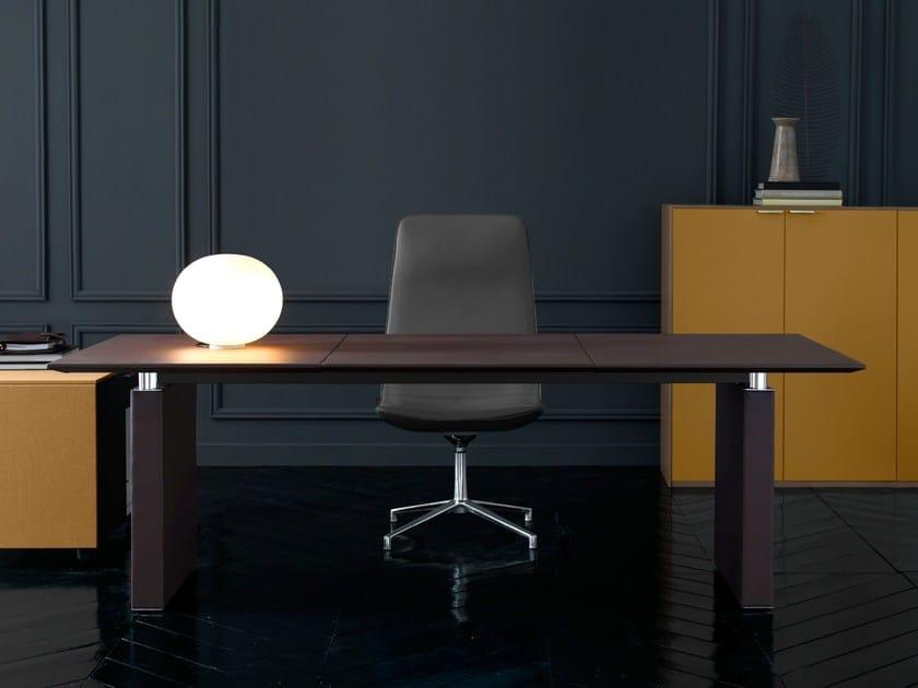 Rectangular leather executive desk PRESIDENT | Executive desk by Quinti Sedute