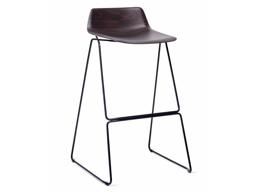 High multi-layer wood stool PRESSIOUS by Casamania & Horm