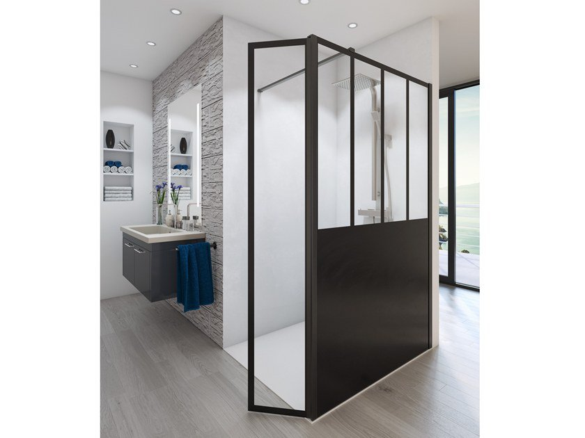 cabine de douche rectangulaire en verre prestige atelier by glassolutions. Black Bedroom Furniture Sets. Home Design Ideas