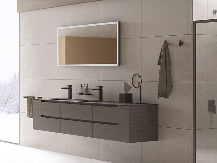 Laminate Bathroom Cabinet Vanity Unit Prestige Composition 1 By Inda