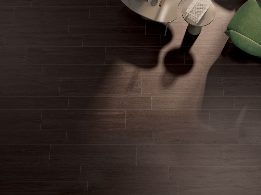 Porcelain stoneware wall/floor tiles with wood effect PRESTIGE WENGE' by Marca Corona
