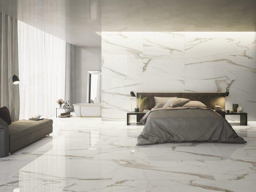 Pavimento rivestimento in gres porcellanato effetto marmo prestigio