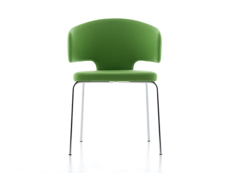 Upholstered chair with armrests PRETTY-P 4G by arrmet