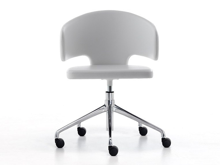 Height-adjustable task chair with armrests with casters PRETTY-P-HO | Chair with casters by arrmet