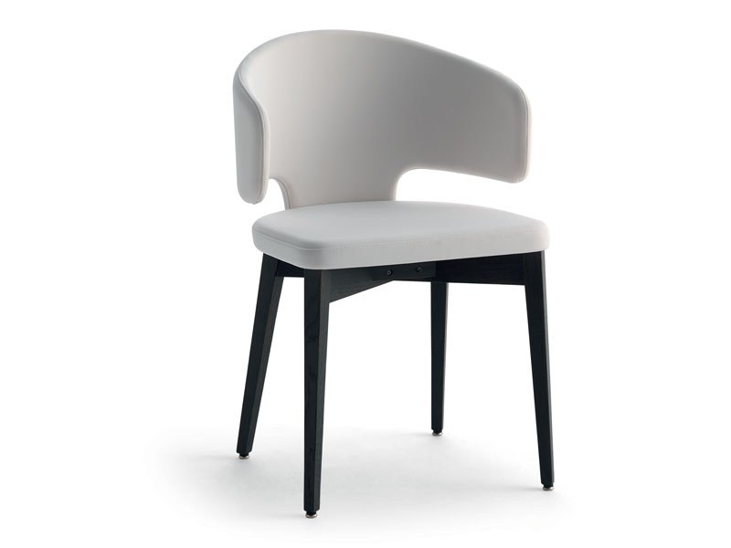 Upholstered chair with armrests PRETTY-P-L | Chair with armrests by arrmet